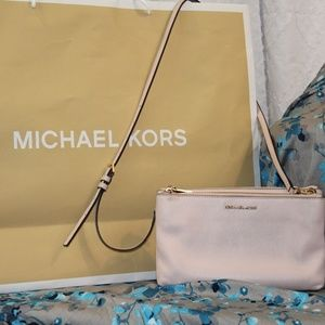 Michael Kors Soft Pink Leather Crossbody Bag